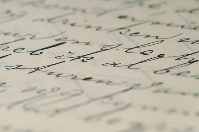 escritura y letras